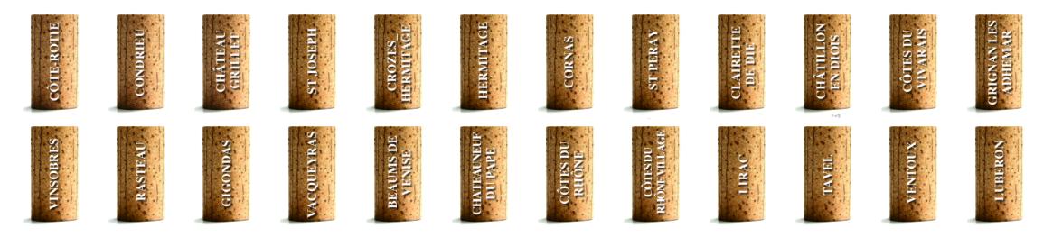 Appellations vins de la vallée du Rhône